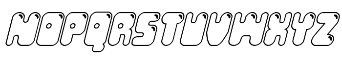 Bubble Butt Outline Italic Font UPPERCASE