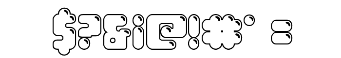 Bubble Butt Outline Regular Font OTHER CHARS