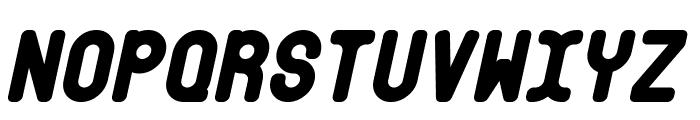 Bubble Club Italic Font UPPERCASE