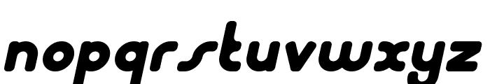 Bubble Club Italic Font LOWERCASE