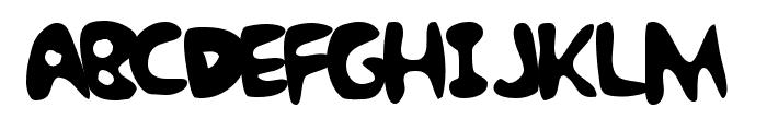 Bubble Gum Rock BTrial Font LOWERCASE