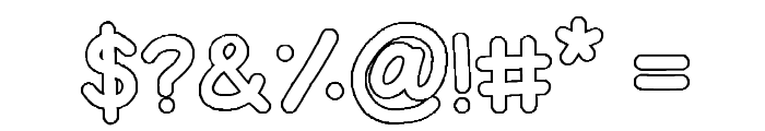 Bubble Letters Font OTHER CHARS