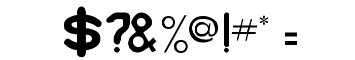 Bubble Regular Font OTHER CHARS