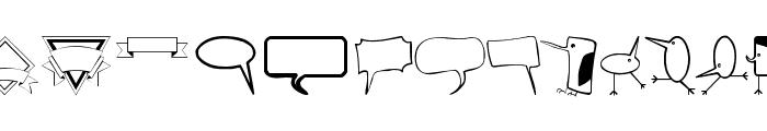 BubbleToBird Font UPPERCASE