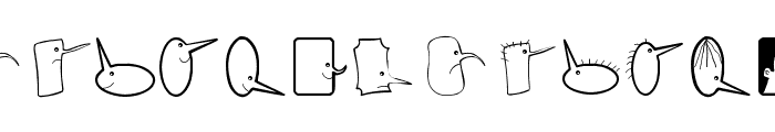 BubbleToBird Font LOWERCASE