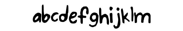 BubbleWriting Font LOWERCASE