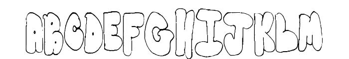BubbleYums Font LOWERCASE