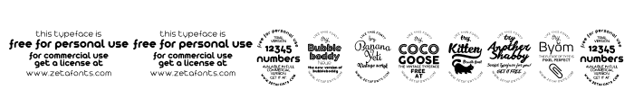 Bubbleboddy ExtraLight Font OTHER CHARS