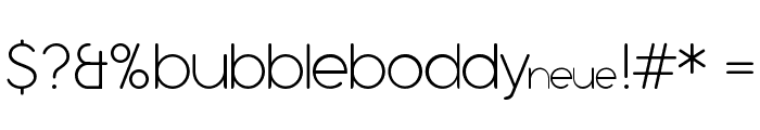 Bubbleboddy Neue Trial Thin Font OTHER CHARS