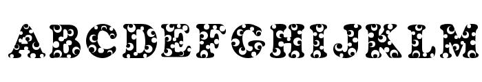 Bubbles Font UPPERCASE