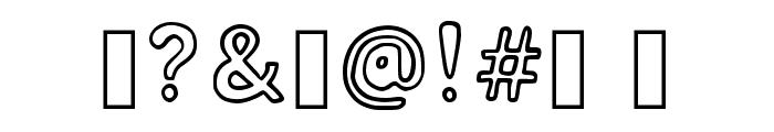 Bubblesfont Regular Font OTHER CHARS