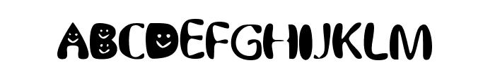 BubblySmiles Font UPPERCASE