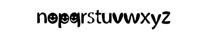 BubblySmiles Font LOWERCASE