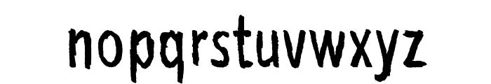 Bubu Ghost Font LOWERCASE