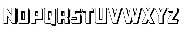 Buchanan 3D Font LOWERCASE