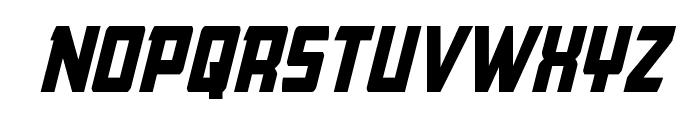 Buchanan Condensed Italic Font UPPERCASE