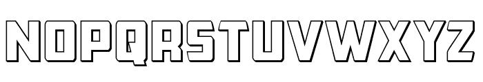Buchanan Outline Font LOWERCASE