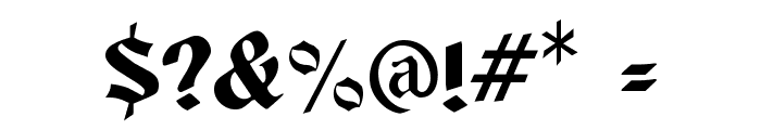 Buckingham Regular Font OTHER CHARS