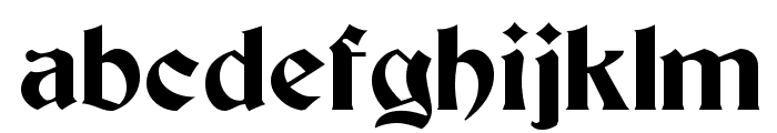 Buckingham Regular Font LOWERCASE
