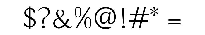 Buda Light Font OTHER CHARS