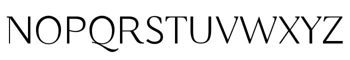 Buda Light Font UPPERCASE
