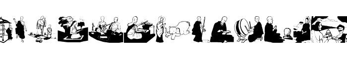 Buddhism Font UPPERCASE