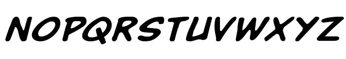 Buddy Champion Expanded Italic Font LOWERCASE