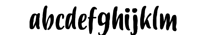 Budidaya Font LOWERCASE