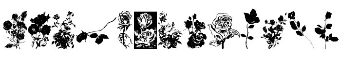 Buds and Blossoms Font UPPERCASE