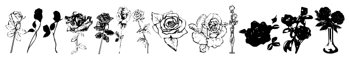 Buds and Blossoms Font LOWERCASE