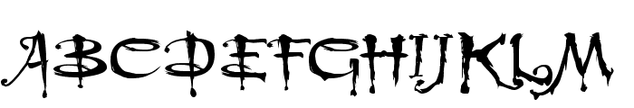 Buffied Font UPPERCASE