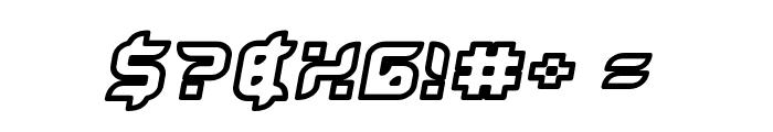 Bug2K Oblique Font OTHER CHARS