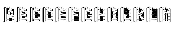 Building2AL Font UPPERCASE