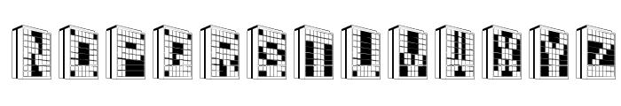Building2AL Font LOWERCASE