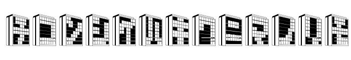 Building2KT Font LOWERCASE