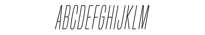 BuiltTitlingEl-Italic Font UPPERCASE