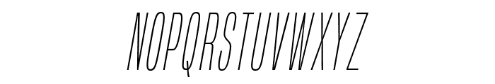 BuiltTitlingEl-Italic Font LOWERCASE