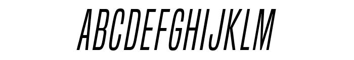 BuiltTitlingLt-Italic Font UPPERCASE