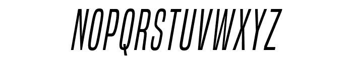 BuiltTitlingLt-Italic Font LOWERCASE