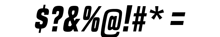 BuiltTitlingRg-BoldItalic Font OTHER CHARS