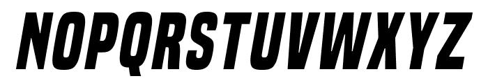 BuiltTitlingRg-BoldItalic Font LOWERCASE