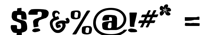 Buka Bird Font OTHER CHARS