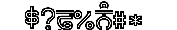 Bulara Hollow Bold Font OTHER CHARS