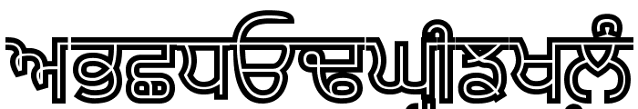Bulara Hollow Bold Font UPPERCASE