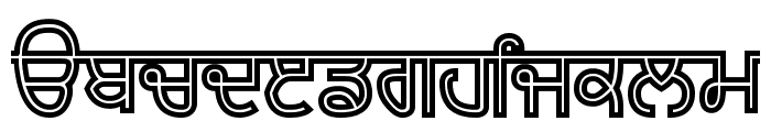 Bulara Hollow Bold Font LOWERCASE