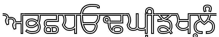Bulara Hollow Font UPPERCASE