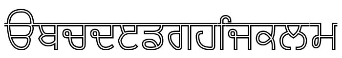 Bulara Hollow Font LOWERCASE