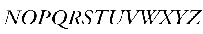 Bulgarian Garamond Italic Font UPPERCASE