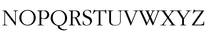Bulgarian Garamond Font UPPERCASE