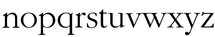 Bulgarian Garamond Font LOWERCASE